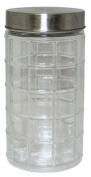 Gourmet Home Products 1690ml Round Window Glass Storage Container, Large, Clear