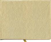 Entertaining with Caspari Lizard Guest Book, Platinum, 18cm by 23cm by 2.5cm , 1-Count