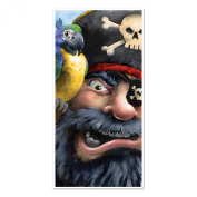 Beistle Pirate Door Cover, 80cm by 1.5m, Multicolor