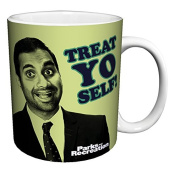 Parks and Recreation Tom Haverford Treat Yo Self Workplace Comedy TV Television Show Ceramic Gift Coffee (Tea, Cocoa) 330ml Mug