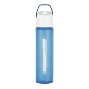 Takeya Modern Flip Straw with Carry Handle, 530ml, Blue