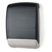 E-Z Taping System TD0179-01 Plastic Multifold Towel Dispenser in Dark Translucent