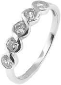 Doma Jewellery MAS02329-5 Sterling Silver Ring with Cubic Zirconia - Size 5