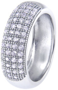 Doma Jewellery MAS02403-6 Sterling Silver Ring with Micro Set Cubic Zirconia - Size 6