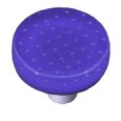 Hot Knobs HK1209-KRB Bubbles Deep Cobalt Blue Round Glass Cabinet Knob - Black Post