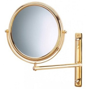 Jerdon Style JP3030GF 23cm . 3X-1X Wall Mount Mirror Single Arm Bright Brass