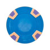 Brybelly Holdings CPSLBL-Blue-25 Roll of 25 - Blue Blank Claysmith Double Trapezoid Poker Chi