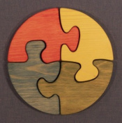 THE PUZZLE-MAN TOYS W-1172 Wooden Educational Jig Saw Puzzle - 18cm . Circle