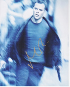 20cm x 25cm . Matt Damon Autographed The Bourne Identity Photo
