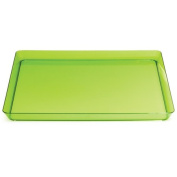 Trendware 173431 29cm . Translucent Green Square Tray - Case of 6