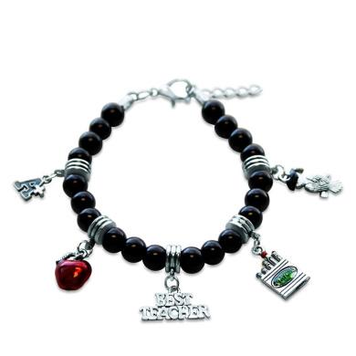 Whimsical Gifts 1402S-BR Teacher Charm Bracelet In Silver