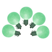 NorthLight Battery Operated Sugared Green LED G50 Christmas Lights - Green Wire Set 10