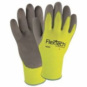 Wells Lamont 815-Y9239TL Knit Thermal Gloves With Nitrile Palm Large Green & Grey