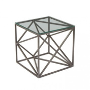 Go Home 20664 Hanover Glass Side Table