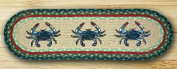 Earth Rugs 49-ST359BC Oval Stair Tread Blue Crab