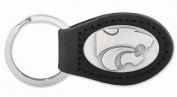ZeppelinProducts KSU-KL6-BLK Kansas State Leather Key Fob Black
