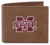 ZeppelinProducts MSSU-IWE1-CRZH-LBR Mississippi State Passcase Embroidered Leather Wallet