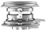 Duravent 3PVL-VCR 7.6cm . Pellet Vent Vertical Cap Round