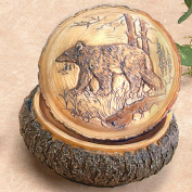 Unison Gifts PWC-131 10cm . Faux Carved Wood Bear Box