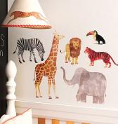 Wallies 12474 Wild Animals Big Wall Sticker