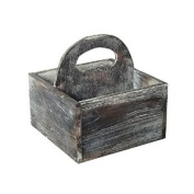 Cheungs FP-4199BR Brown Wooden Square Caddy