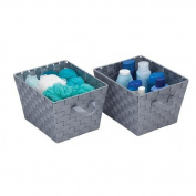 Honey-Can-Do STO-05088 Task-It Baskets 2pk double woven silver