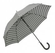 Frankford Umbrellas RA18-PL Automatic Open Stick Umbrella - Black and White Plaid