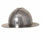 EcWorld Enterprises 8880626 Antique Replica Mediaeval Infantry Steel Kettle Hat Helmet