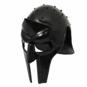 EcWorld Enterprises 8880671 Antique Replica Full-Size Metal Gladiator Armour Arena Helmet - Black