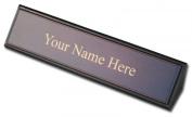 Dacasso a8446 Leather Name Plate - Walnut