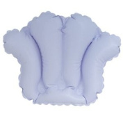 Living Health Products BTIF-002-08 Inflatable Bath Cushion- Shell Light White Or Blue Vinyl