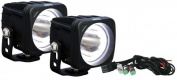 Vision X Lighting 9891705 Optimus Square Halo Black 1 10w LED 10 Degree Narrow 2 Light Kit