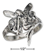 Plum Island Silver SR-3021-06 Sterling Silver Antiqued Fairy Ring - Size 6