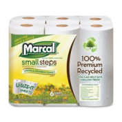 Marcal Paper Mills Inc MRC6181CT Paper Towels 2-Ply 140 Sheets-Roll 24 Rolls-CT White