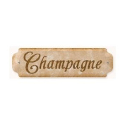 Past Time Signs VP014 Champagne Bar and Alcohol Door Push Metal Sign