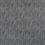 Designer Fabrics B627 140cm . Wide Navy Blue Traditional Paisley Jacquard Woven Upholstery Fabric