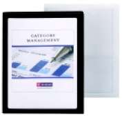 Smead 9.5 W x 11.5 H in. Two-Pocket Folder With Clear Front - Oyster Pack 5