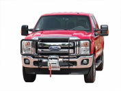 GO IND 33644B Grille Guard Winch System Chrome Steel Without Brush Guard