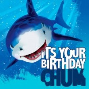 Creative Converting 669887 Shark Splash - Lunch Napkins Happy Birthday - Case of 192