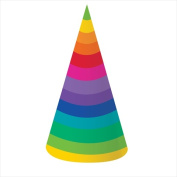 Creative Converting 205972 Rainbow - Paper Party Hats Adult Size - Case of 48