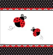 Creative Converting 725019 Ladybug Fancy - Tablecover Plastic Border Print - Case of 6
