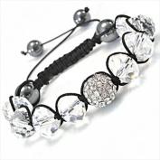 Best Desu 17084 Shambala-Style Crystal Bracelet Clear
