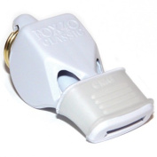 OlympiaSports WH078P Fox Classic Cmg Officials Whistle & Lanyard - White