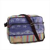 NorthLight 37cm . Decorative Stripes And Jean Design Bag & Purse With Strap