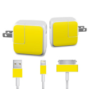 DecalGirl APCH-SS-YEL Apple iPad Charge Kit Skin - Solid State Yellow