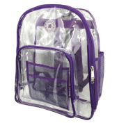 Harvest LM213 Purple Deluxe 17 in. See-through Clear 0.5 mm. PVC Backpack