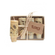 Tag 710384 Wine Cork Candles (Set of 4), 7.3cm x 2.9cm , Natural
