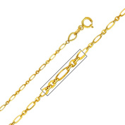 Precious Stars SEC0278160 Yellow Gold 1.3 mm. Open Link Chain 16 in. Necklace