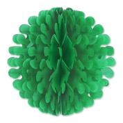 Beistle 54897-G 23cm . Tissue Flutter Ball Green - Pack Of 12