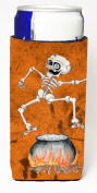 Carolines Treasures SB3013MUK Skeleton Jumping From Witches Caldron Halloween Michelob Ultra bottle sleeves For Slim Cans - 350ml
